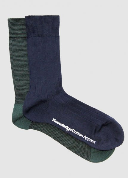 Narrow Striped Sock 2Pack from Greenality