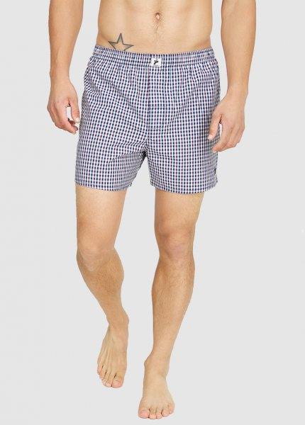 Men Boxershorts Checked Blue / White / Red Checked from Greenality