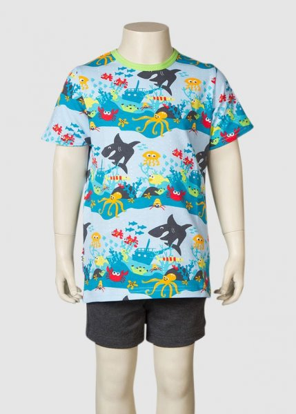 T-Shirt Underwater Multi Lime from Greenality