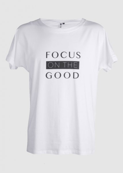 T-Shirt Focus Male Weiß from Greenality
