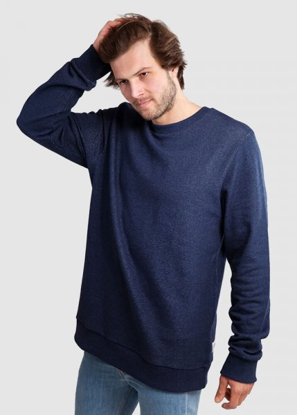 Classic Sweater Dunkel Blau Meliert from Greenality