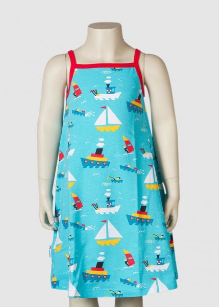 Strap Dress On The Sea Light Turquoise from Greenality