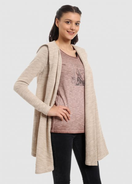 Loose Hoodie Jacket Beige Off White from Greenality