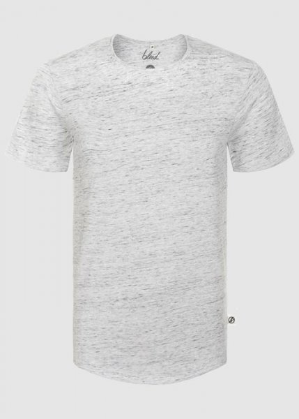 Curved T-Shirt White Melange from Greenality