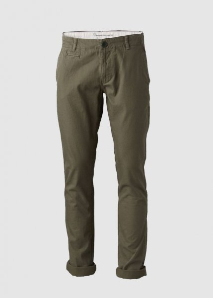 Twisted Twill Chinos Burned Olive from Greenality
