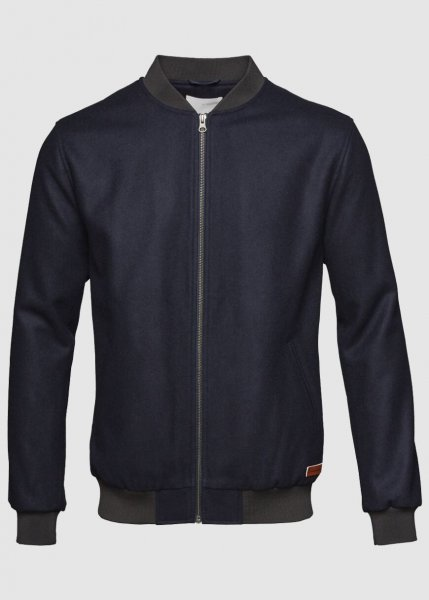 Bomber Wool Jacket Total Eclipse from Greenality