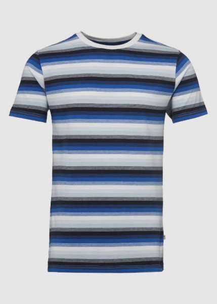 Short Sleeve Narrow Striped T-Shirt Total Eclipse from Greenality
