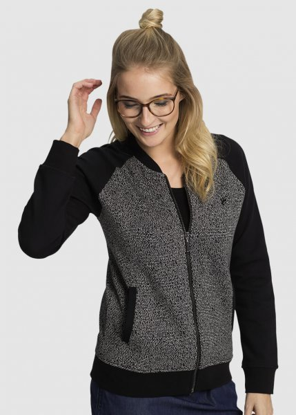 Zip Jacke College Salt And Pepper from Greenality