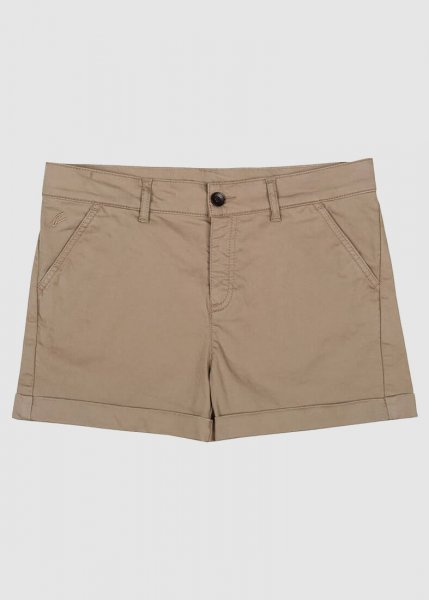 Chino Shorts Ladies Taupe from Greenality