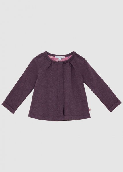 Sweatjacke Mädchen Plum from Greenality