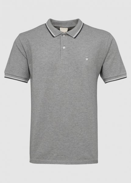 Pique Polo Grey Melange from Greenality