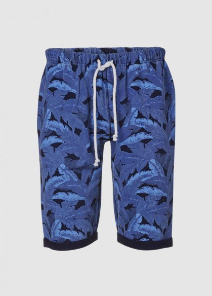 Sweat Shorts W/Palm Print - Total Eclipse from Greenality