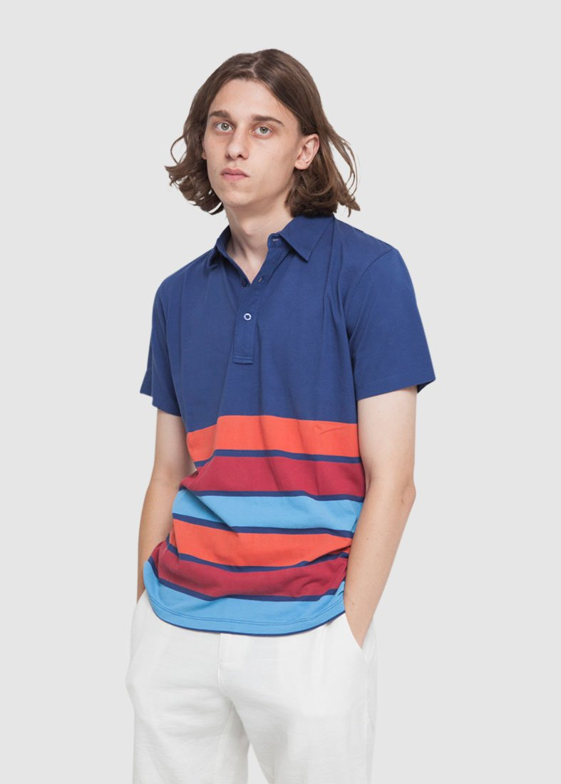 6 Lines 3 Colors Polo