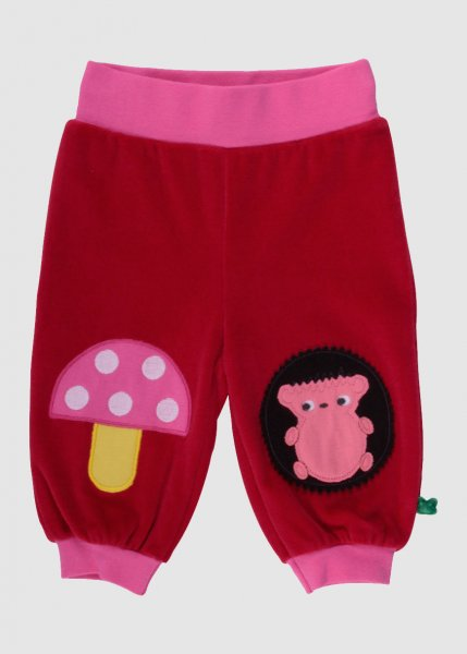 Hedgehog Applique Pants Red from Greenality