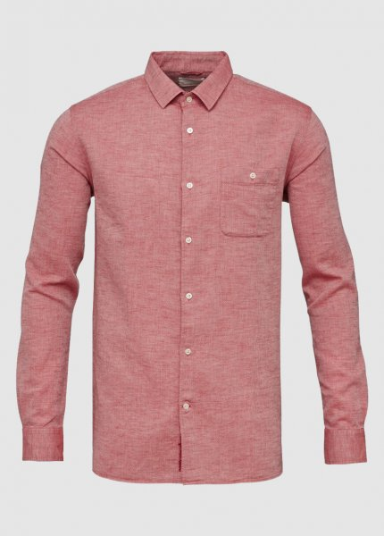 Structured Shirt Deep Red from Greenality