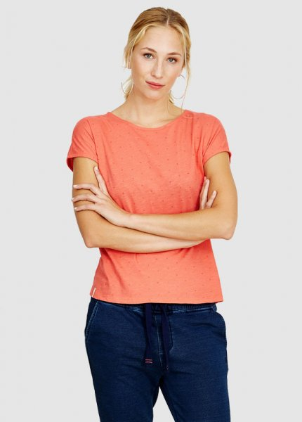Frauen T-Shirt Casual Cross Coral from Greenality