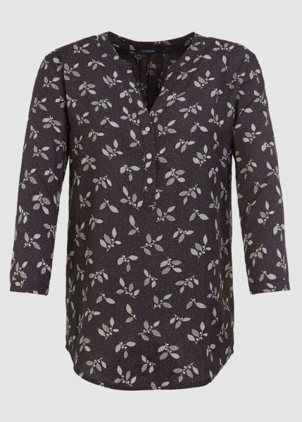 Plants Leaves Points Blouse Dark Grey from Greenality