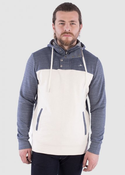 Men`s H. Zipped Hoodie White from Greenality